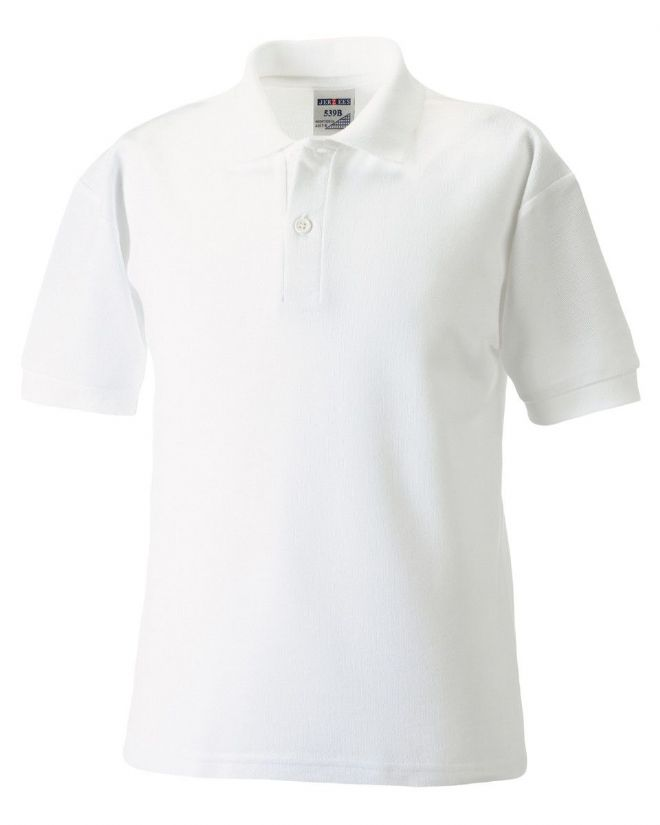 NOSS PRIMARY SCHOOL WHITE POLO SHIRT WITH LOGO